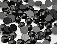 Камень клеевой 14мм черный