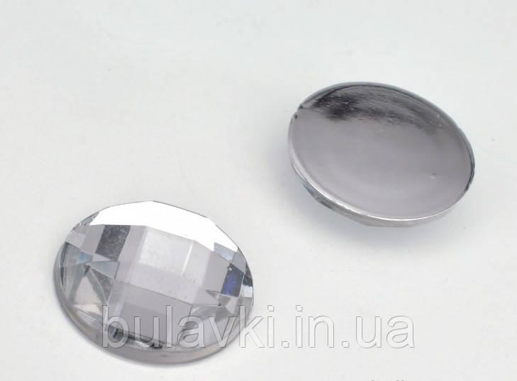Камень клеевой 14мм белый