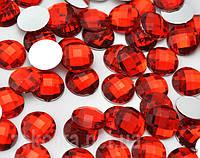 Камень клеевой 14мм красный