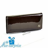 Женский кожаный кошелёк на кнопке Bretton W0807 coffee (серия Gold), фото 1
