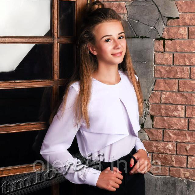 Школьная подростковая блуза Агата . Размеры 140- 152
