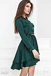 Каскадное платье изумрудного цвета, фото 2