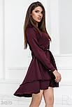 Шелковое платье марсала, фото 2