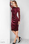Бордовое замшевое вечернее платье, фото 2