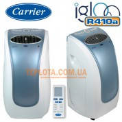 Мобильный кондиционер CARRIER 51AKP009H (холод, тепло, фреон 410)