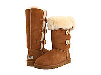 UGG Bailey Button Triplet Chestnut Оригинал. угги женские зимние, обувь уги, uggs, угги