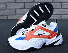 Женские кроссовки Nike M2K Tekno White/Orange. ТОП Реплика ААА класса., фото 2