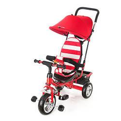 Детский велосипед трехколесный KidzMotion Tobi Junior Red красного цвета / велосипед трехколесный для девочки