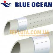 BLUE OCEAN ТРУБА д.25мм Труба BO-STABI. Труба штаби - зачистная с перфорированной алюминиевой лентой ППР-Ал-ППР