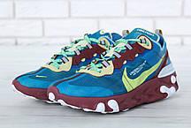 Мужские кроссовки Undercover x Nike React Element 87 Green. ТОП Реплика ААА класса., фото 3