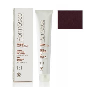5,7 Світлий каштан фиолетовий, Barex Permesse Крем - фарба для волосся з маслом каріте 100 мл.