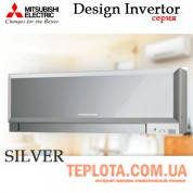 Кондиционер MITSUBISHI ELECTRIC MSZ-EF25VES Silver Design Inverter, инвертор, серебро