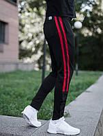 Штани Pobedov trousers sushi чорні з червоним