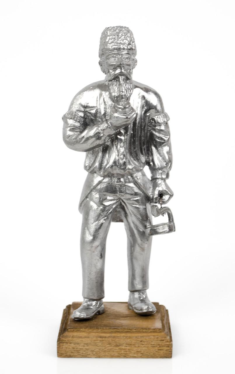 Старая статуэтка, шахтер, олово, литье, Германия
