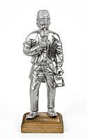 Старая статуэтка, шахтер, олово, литье, Германия, фото 1