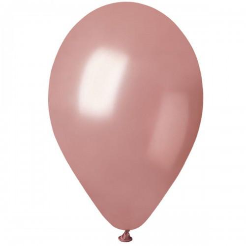"""Воздушные шары Gemar 12"""" (30 см), Металлик Розовое Золото 71, 100 шт (GM110)"""