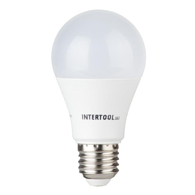 Світлодіодна лампа LED 12Вт, E27, 220В, INTERTOOL LL-0015