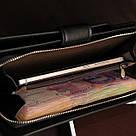 Стильный мужской кожаный клатч кошелек черный в стиле Baellerry Business Балери, фото 4