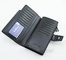 Стильный мужской кожаный клатч кошелек черный в стиле Baellerry Business Балери, фото 5