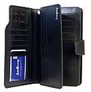 Стильный мужской кожаный клатч кошелек черный в стиле Baellerry Business Балери, фото 9