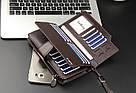 Мужской кожаный кошелек коричневый в стиле Baellerry Business, фото 2