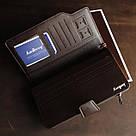 Мужской кожаный кошелек коричневый в стиле Baellerry Business, фото 3