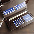 Мужской кожаный кошелек коричневый в стиле Baellerry Business, фото 5