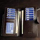 Мужской кожаный кошелек коричневый в стиле Baellerry Business, фото 6