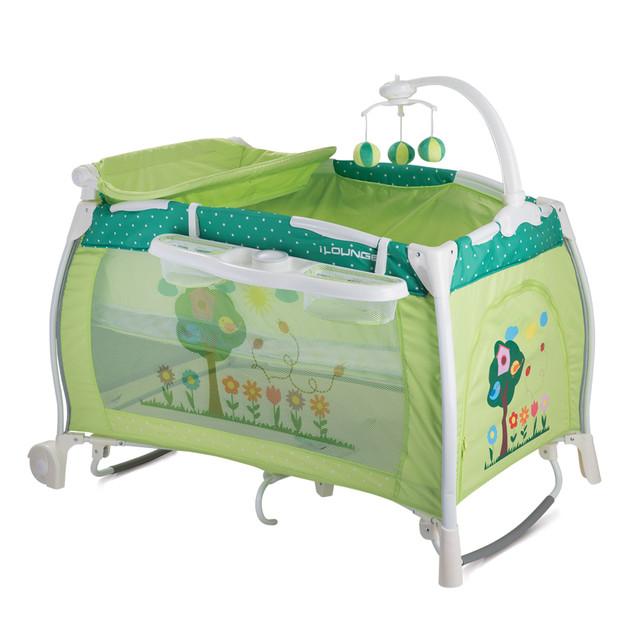 детский манеж зеленый
