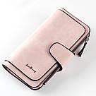 Женский кошелек в стиле Baellerry Forever нежно-розовый замша PU, фото 2