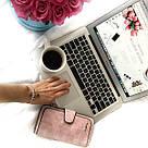 Женский кошелек в стиле Baellerry Forever нежно-розовый замша PU, фото 7