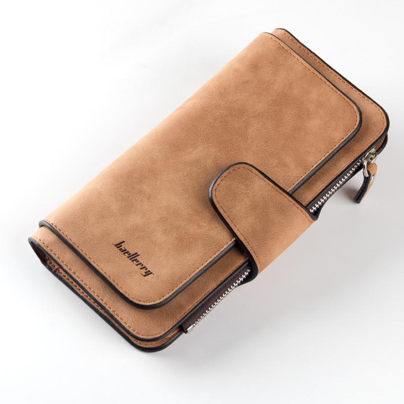 Женский кошелек в стиле Baellerry Forever коричневый замша pu