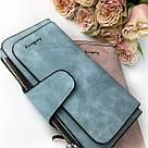 Женский кошелек в стиле Baellerry Forever голубой замша pu, фото 2