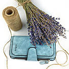 Женский кошелек в стиле Baellerry Forever голубой замша pu, фото 3