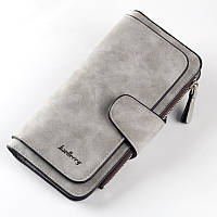 Женский кошелек в стиле Baellerry Forever серый замша pu