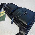 Сумка - рюкзак на одно плечо слинг в стиле Jeep черная, фото 10