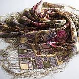 Таинственный образ 1782-53, павлопосадский платок шерстяной с шелковой бахромой, фото 6