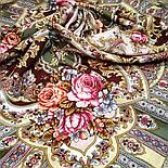 Таинственный образ 1782-53, павлопосадский платок шерстяной с шелковой бахромой, фото 7