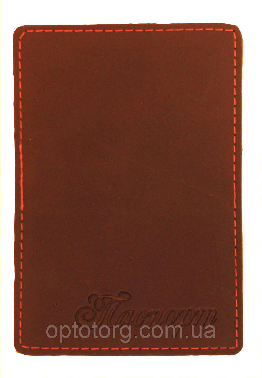 Обложка Темно коричневая для нового паспорта (карточки id) из эко кожи, фото 1