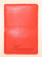 Обложка Красная для нового паспорта (карточки id) из эко кожи, фото 1