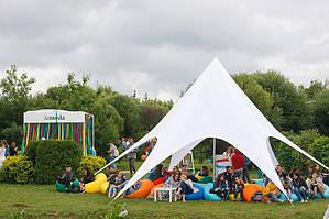 Палатка Звезда 10 (классическая) белая на 15-30 человек в АРЕНДУ по КИЕВУ