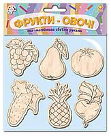 """Деревянные игрушки на магните """"Фрукты овощи"""", Звезда, фото 1"""