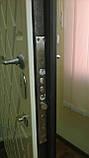 """Входная металлическая дверь с ковкой и стеклом для улицы """"Портала"""" (Элит Vinorit) ― модель Ковка 25, фото 3"""