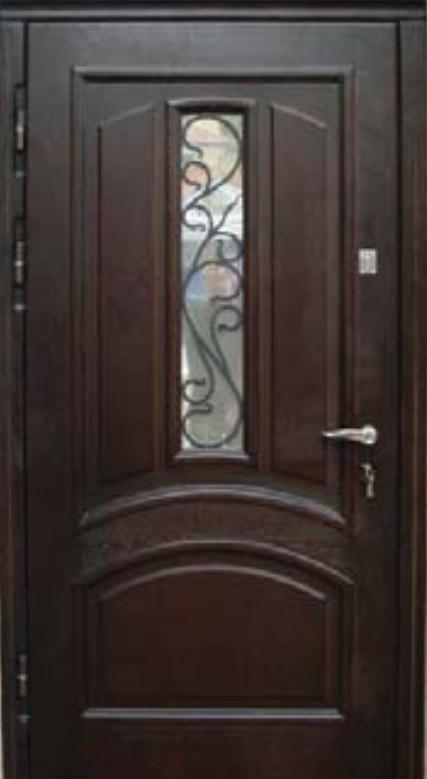 """Входная дверь с ковкой и стеклом """"Портала"""" (серия PatinaElit) ― модель М-1 Vinorit"""