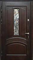 """Входная дверь с ковкой и стеклом """"Портала"""" (серия PatinaElit) ― модель М-1 Vinorit, фото 1"""