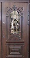 """Входная дверь с ковкой и стеклом """"Портала"""" (серия PatinaElit) ― модель M-6 Vinorit, фото 1"""