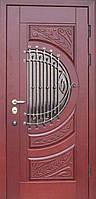 """Входная дверь с ковкой и стеклом """"Портала"""" (серия PatinaElit) ― модель M-5 Vinorit, фото 1"""