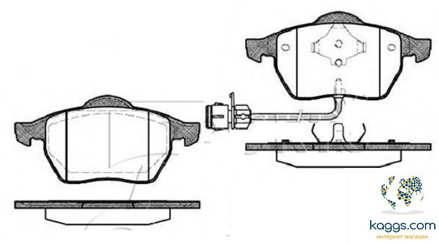 LPR 05p453 Тормозные колодки (передние) AUDI 4A0698151, VW 4A0698151D