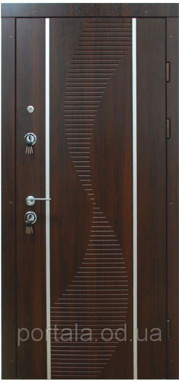 """Входная дверь для улицы """"Портала"""" (Люкс Vinorit) ― модель Торнадо-2"""