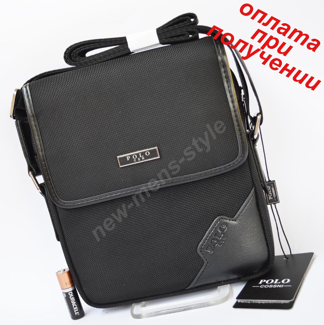 6f0291e68e67 Мужская тканевая спортивная сумка рюкзак бананка слинг на плечо POLO -